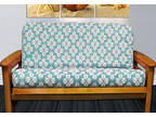 NEW - Tropical Floral Modern Teal FUTON COVER - Full Size