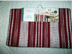 Nwt's Target Threshold Holiday Red/White Table Runner 14 X