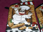 Brand New Home Collection Italian Chef Oven Mitts (7 in X 13