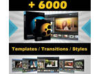 6000 Templates, Transitions and Styles Pro Show Producer