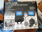 Craig Portable CD DVD Player With Remote Case 2 Screens