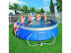 "Bestway 15' x 48"" "" Steel Pro Frame Above Ground Swimming"