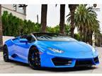 2019 Lamborghini Huracan Blue, 656 miles