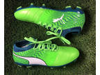 PUMA Men ONE 18.3 Soccer Cleats Men's Size 10.5 Lime Green