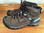 KEEN Women's Hiking Boots Charcoal Gray Leather Sz.