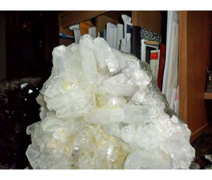 Gorgeous Massive Ice White Apophyllite with Stilbite Crystal Cluster is a White Collectibles for Sale in New York NY