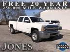 2018 Chevrolet Silverado 2500 White, 34K miles