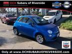 2017 Fiat 500 Blue, 1859 miles