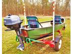 13' Old Town Discovery Sport Canoe w/Trailer & Motor - Heber Springs