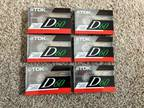 Lot of 6 - TDK D60 Blank Audio Cassette Tapes High Output