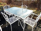 Vintage SALTERINI WROUGHT IRON OUTDOOR/INDOOR DINING SET FOR