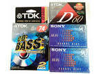 5 New Blank Cassette Tapes TDK 74min SONY 90min Sealed Mixed