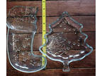 Glass tree and stocking candy dishes/trays for table tops