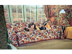 Vintage Sofa Couch Cover New Old Stock 1960's Large Floral