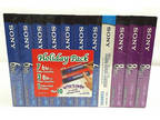 Sony Holiday Pack 10 Blank VCR VHS Video Tapes With Video
