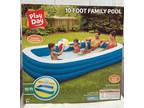 Play Day Blue & White Inflatable 10 foot Family Swimming