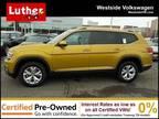 2018 Volkswagen Atlas Yellow, 20K miles