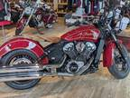 2020 Indian Motorcycle® Scout® 100th Anniversary Indian Red with Motorcycle