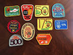 LOT OF 10 CLOTH BOWLING PATCHES Miscellaneus Vintage MISC