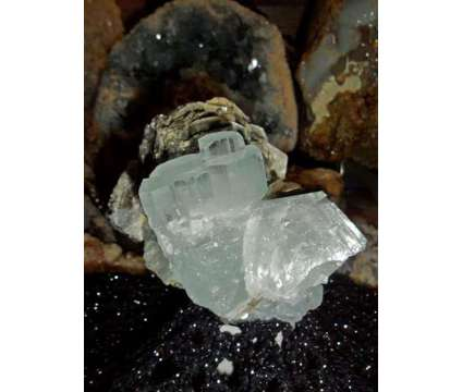 731 Grams {1.6 lbs.} Huge Terminated Aquamarine Cluster on Matrix is a Blue Collectibles for Sale in New York NY