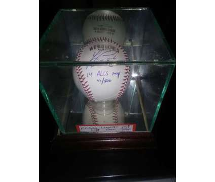 Baseball - Lorenzo Cain Autographed is a Sports Memorabilias for Sale in Overland Park KS