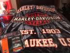 Harley Davidson throw blanket