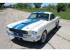1966 White Ford Mustang