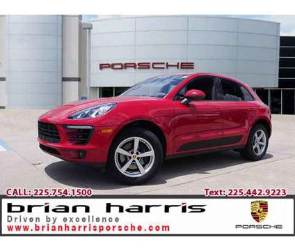 2017 Porsche Macan is a Red 2017 Porsche Macan Car for Sale in Baton Rouge LA