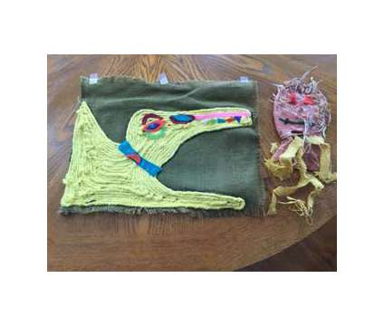 Yarn on Canvas Artwork/Clay Piece is a Artworks for Sale in Wescosville PA