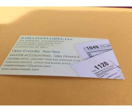 Tax Service, Notary Public, Translation, Immigration and Others is a Accounting & Bookkeeping service in Washington DC