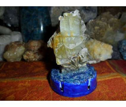 Exceptional Lustrous Aquamarine Crystal on Mica Museum 1130 ct is a Blue Collectibles for Sale in New York NY
