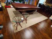 Red End Tables w/glass tops