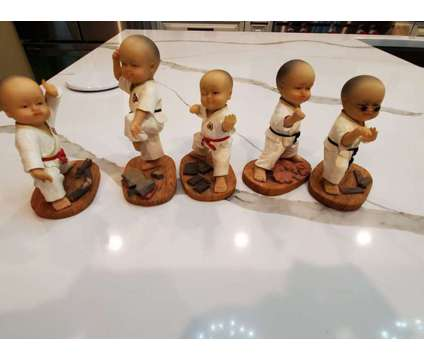 Kung Fu Figurine Set (set of 5) is a Home Decors for Sale in Covington GA