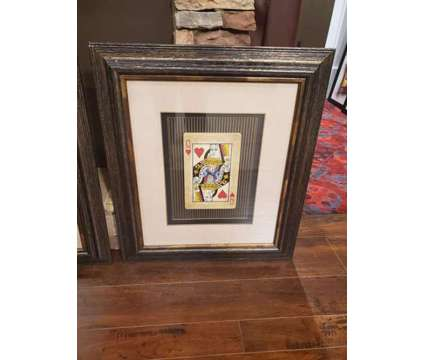 King & Queen of hearts playing card prints (set of 2) is a Home Decors for Sale in Covington GA
