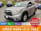 2015 Toyota Highlander AWD Limited 7-Seats, Leather, Pano roof, Navi