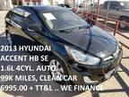 2013 Hyundai Accent 5dr HB Auto SE