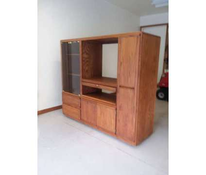 Oak Entertainment Center is a Other Furnitures for Sale in Coraopolis PA