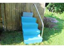 Swimming Pool Steps Fiberglass with Stainless Rail