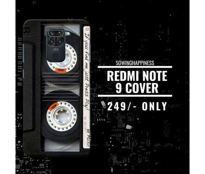 FREE Shipping – Buy REDMI NOTE 9 Covers – Sowing Happiness is a Other Announcements listing in New Delhi DL