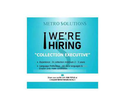 Recovery Executives is a Full Time Executive in Executive Job at Metrosolutions in Bangalore KA