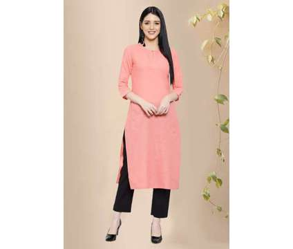 Charlotte Solid Cotton Straight Kurta - Rose Shree is a Dresses for Sale in Delhi DL
