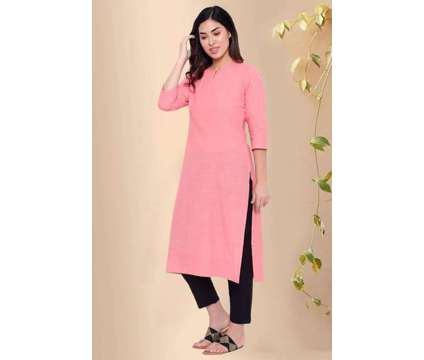 Scarlet Pink Cotton Kurta - Rose Shree is a Pink, Red Dresses for Sale in Delhi DL