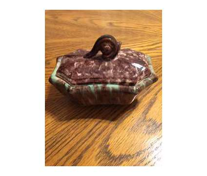 Green/Brown Toned Covered Dish is a Brown, Green Everything Else for Sale in Wescosville PA