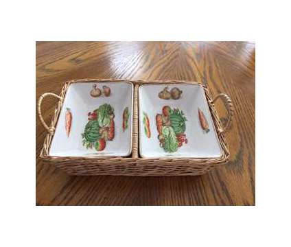 Double Relish Dishes in Basket is a Antiques for Sale in Wescosville PA