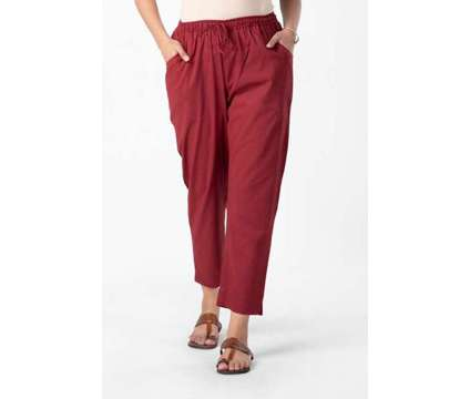 Red Cotton Tapered Pant - Rose Shree is a Red Pants & Jeans for Sale in Delhi DL