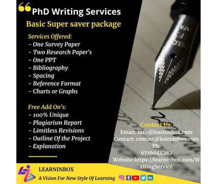 PhD thesis writing | Basic super saver package -LearnInbox is a Career Services service in Hyderabad AP