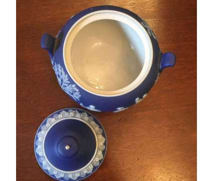Antique Blue and White Wedgwood Cream & Sugar Set is a Blue, White Antiques for Sale in Homestead FL