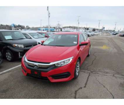 2018 Honda Civic LX is a Red 2018 Honda Civic LX Car for Sale in Waukesha WI