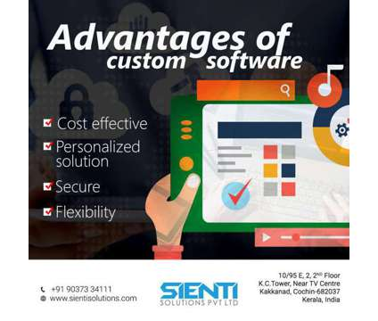 Advantages of custom software is a Other Announcements listing in Ernakulam KL