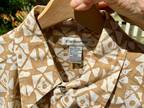 NEW Claiborne Men's Lg Regular-Fit SS Linen Cotton Shirt